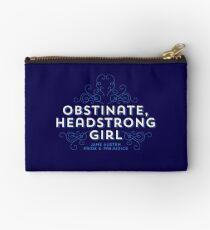 "Jane Austen: ""Obstinate Headstrong Girl"" Studio Pouch"