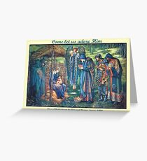 Edward Burne-Jones' The Star of Bethlehem Greeting Card