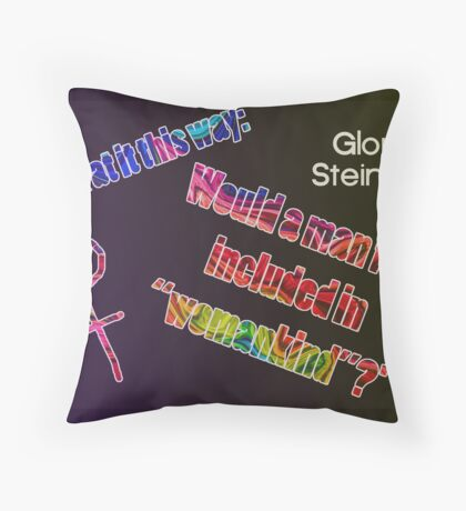 Look at it this way... Throw Pillow