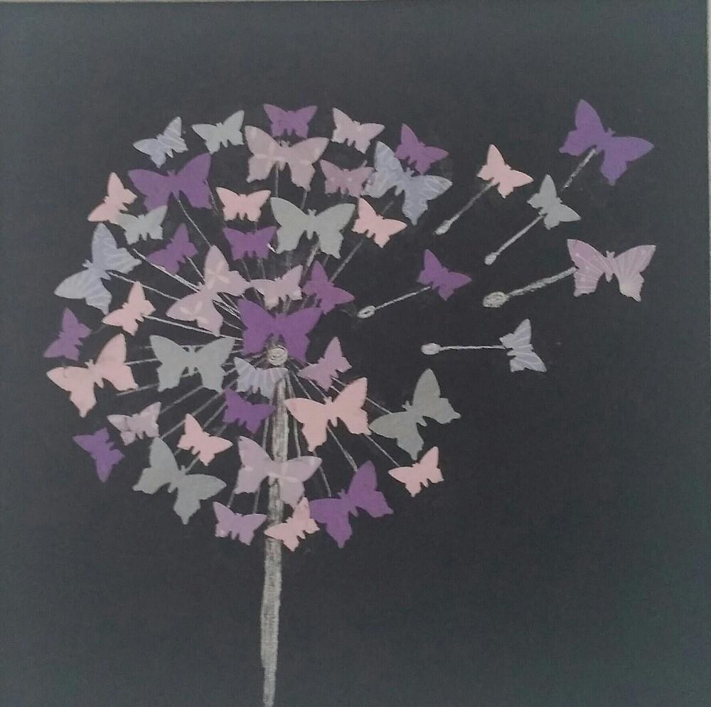 Butterfly Dandelion Clock by AvisArt