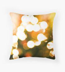 Christmas Tree Bokeh II Throw Pillow