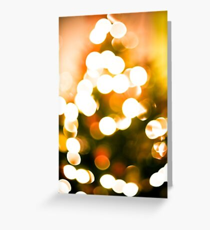 Christmas Tree Bokeh II Greeting Card
