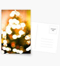 Christmas Tree Bokeh II Postcards