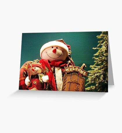 A Snowman's Holiday Greeting Greeting Card