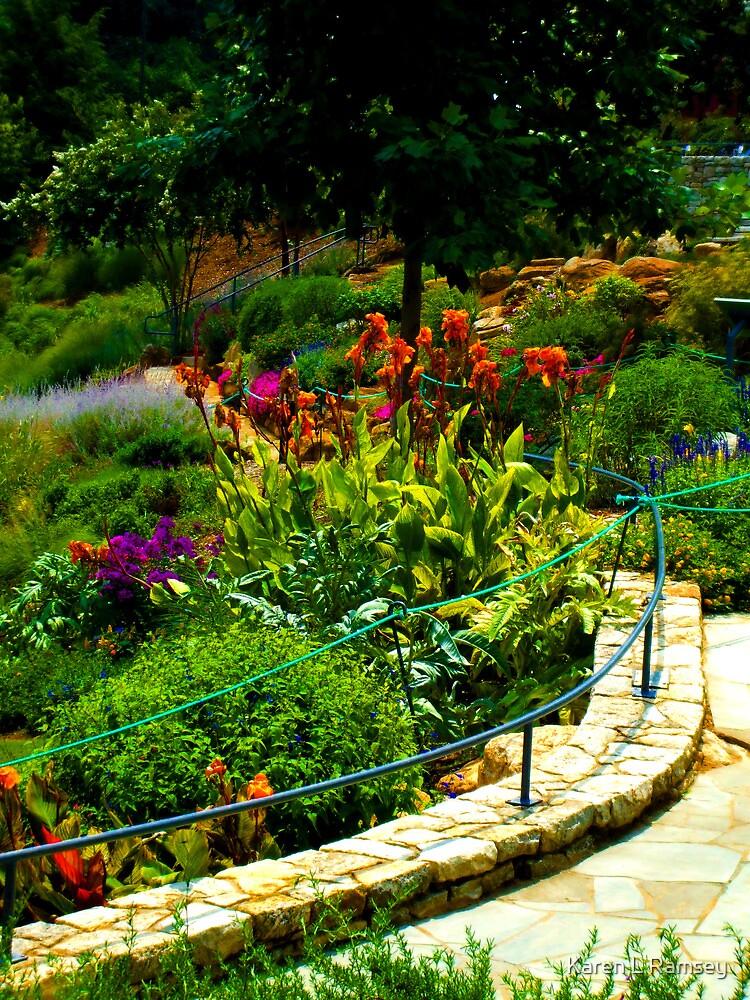 Floral Walk-way in Park, Greenville, SC by Karen L Ramsey