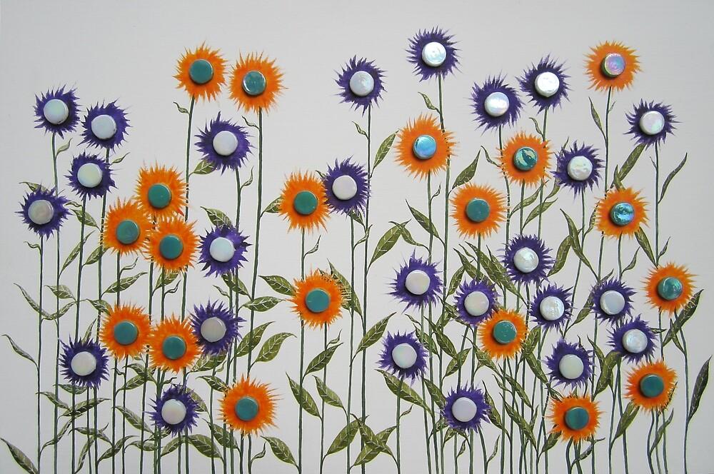 Mosaic Flowers by neilcazy