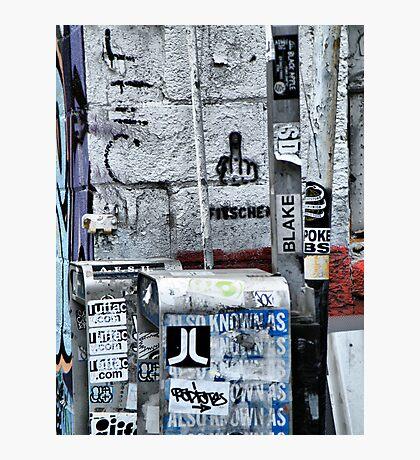 Broome Street Garbage Photographic Print