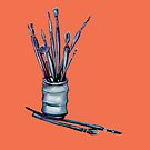 Paint Brushes by Julie Ann Accornero