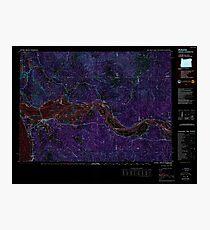 USGS Topo Map Oregon OR Astoria 283046 1981 100000 Inverted Photographic Print