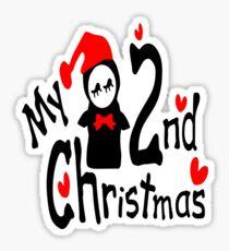 My 2nd Christmas penguin vector art  Sticker