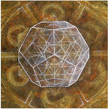 Dodecahedron- Panel 3 in Platonic Solids series by consciousD