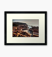 Piran from above Framed Print