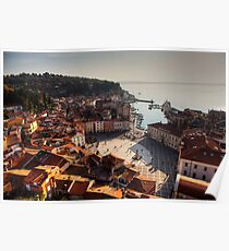 Piran from above Poster