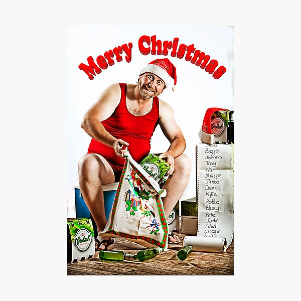 Mr December - Spreading Christmas Beer! Photographic Print