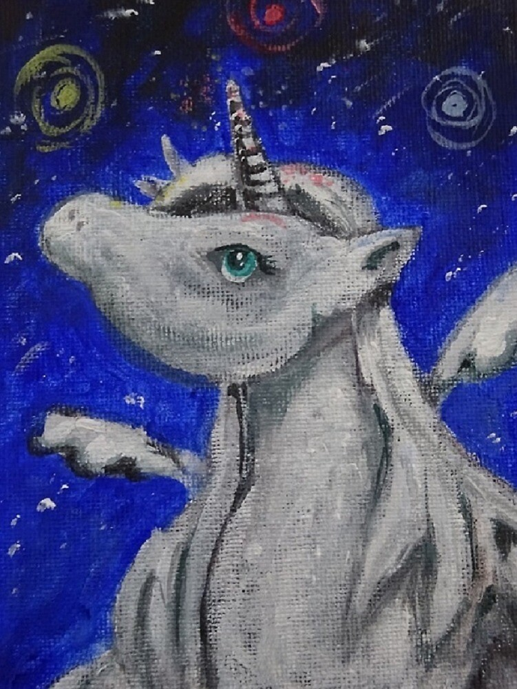 Unicorn in the Night Fantasy by asiajordan25