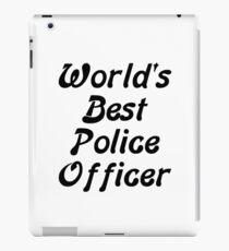 World's Best Police Officer iPad Case/Skin