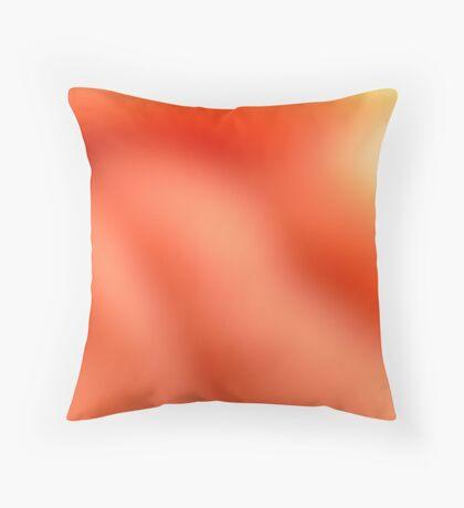 Soft Orange Throw Pillow