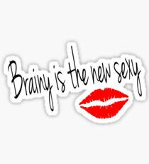 Brainy is the new Sexy-Irene Adler (Sherlock BBC) Sticker