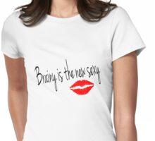 Brainy is the new Sexy-Irene Adler (Sherlock BBC) Womens Fitted T-Shirt