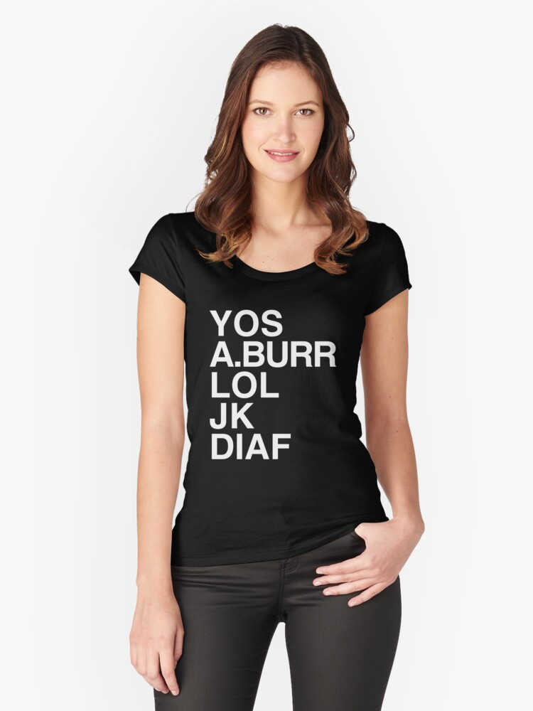 Your Obedient Servant, A.Burr Women's Fitted Scoop T-Shirt Front