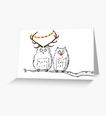 Owl greeting cards redbubble christmas owls greeting card m4hsunfo