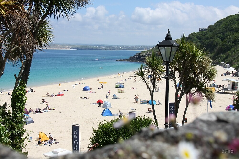 St Ives Beach In summer by btm5