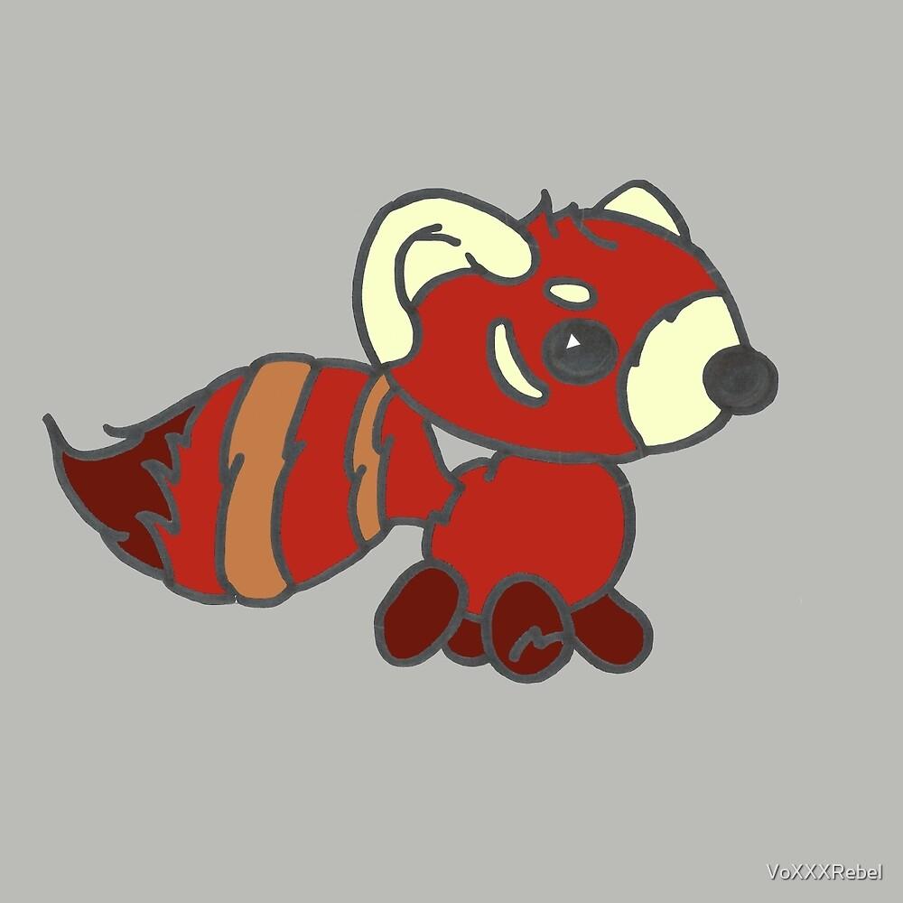 Cute Fox / Red Panda by VoXXXRebel