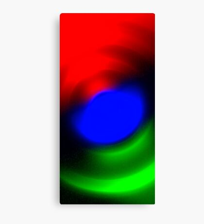 Three Colours // Red, Green, Blue Canvas Print