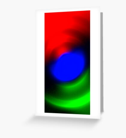 Three Colours // Red, Green, Blue Greeting Card