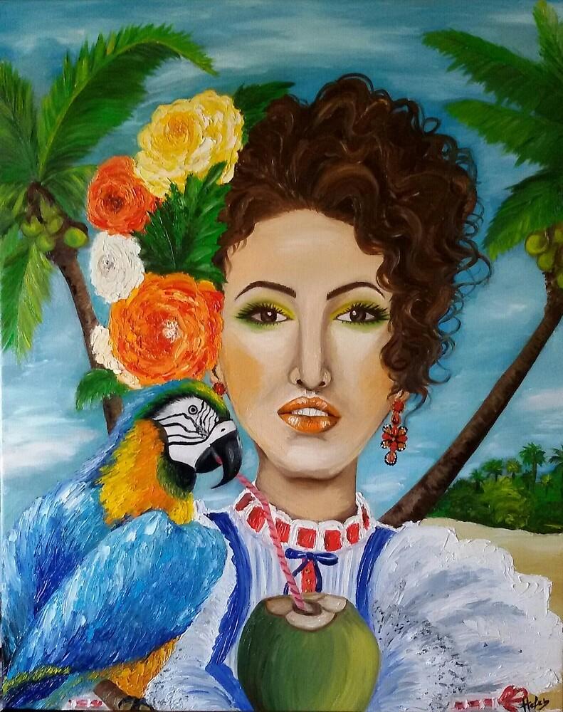 Caribbean girl by Helen Bellart