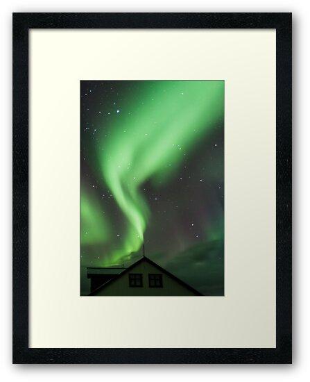 Aurora Borealis, Hofn, Iceland by Heidi Stewart
