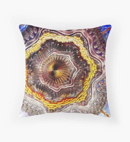 Digital Sculpture Throw Pillow