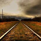 Sitting on the Railroad Tracks by Michelle Burton