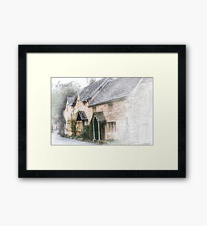 English Cottages - Gloucestershire Framed Print