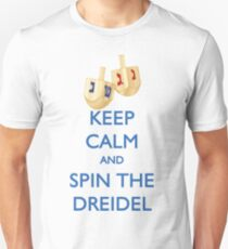 HANUKKAH - KEEP CALM AND SPIN THE DREIDEL Unisex T-Shirt