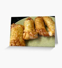 Homemade Egg Rolls-After Greeting Card