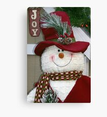 Red Hat Snowman Canvas Print