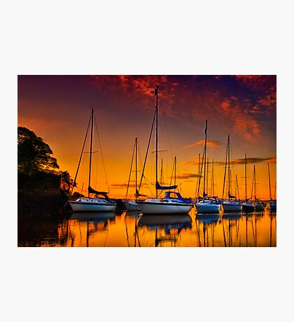Cramond Harbour Sunset Photographic Print