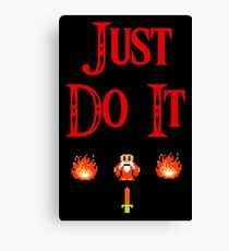 The Legend Of Zelda - Just Do It Canvas Print