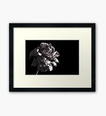 Monochrome Rose Framed Print