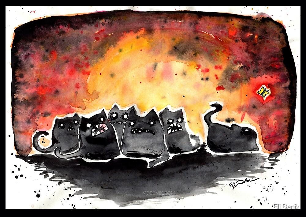 Spoopy Cats by Eli Benik