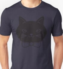 Cool Black Kitty Cat Face T-Shirt