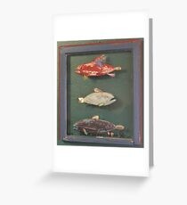 """Windows are Fish to the Sole 1 of 13.  32"""" x 24"""" (SOLD) Greeting Card"""