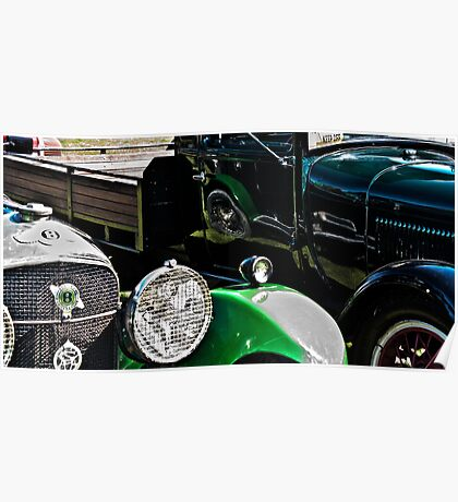Vintage Green Reflections Poster