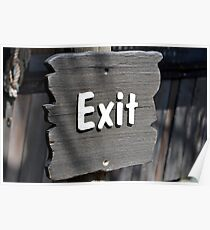 Exit sign. Poster