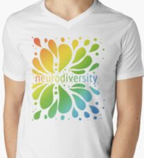 Neurodiversity Splash Men's V-Neck T-Shirt