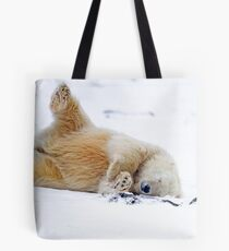 Rolling in the Snow Tote Bag