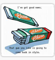 Twin Peaks Gum Sticker