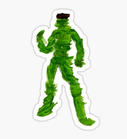The Green Superhero Sticker