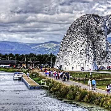 Kelpies and Canal by tomg